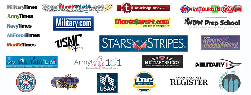 See a Roll Call of where Military Disney Tips has been featured