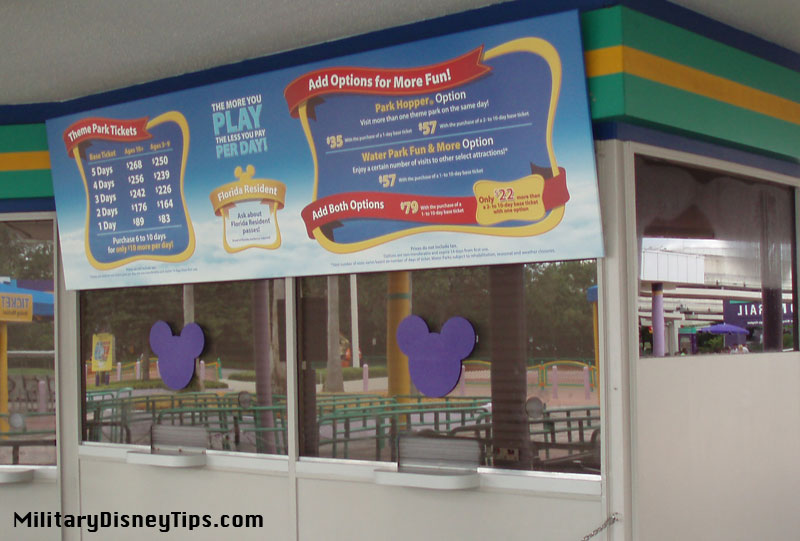 Disney World Ticket Increase For Military