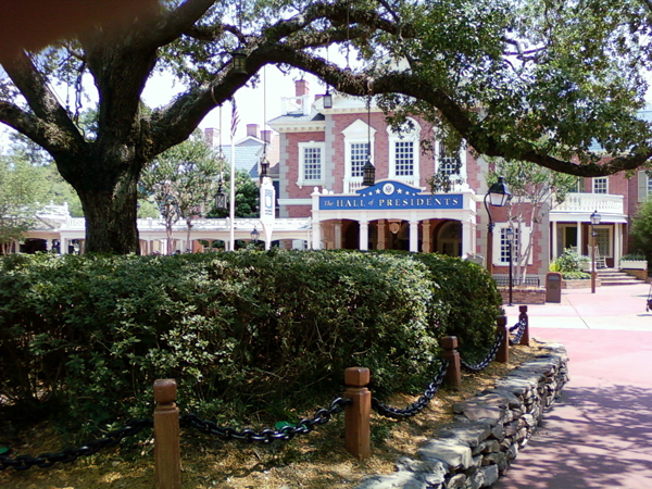 The Hall of Presidents in Disney World's Liberty Square