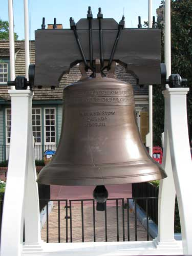 The Liberty Bell in Disney World's Liberty Square