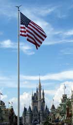 Magic Kingdom Flag Retreat at Walt Disney World