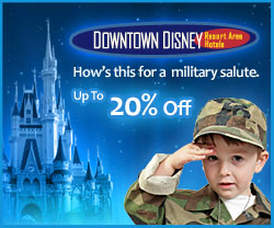 Downtown Disney Resort Area Hotels offer Military Discounts