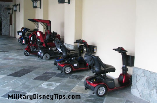 Scooter rentals at shades of green for Motorized scooter rental disneyland