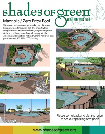 Shades Of Green Magnolia Pool Closure And Remodel