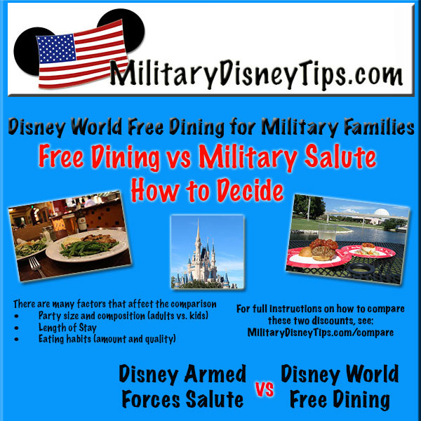 Disney world free dining for military families How to get free dining at disney