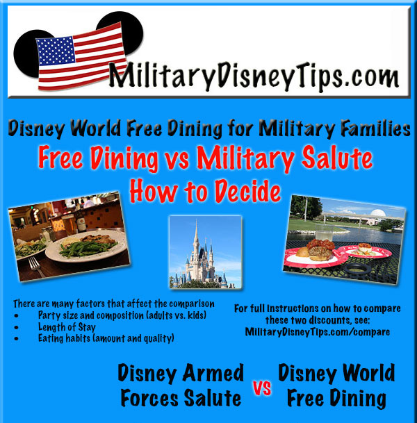 Disney world free dining for military families military for Restaurants that offer military discount