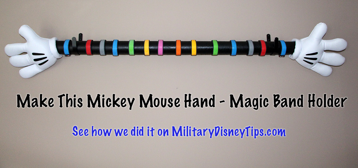 Make This Mickey Mouse Hands Magic Band Display