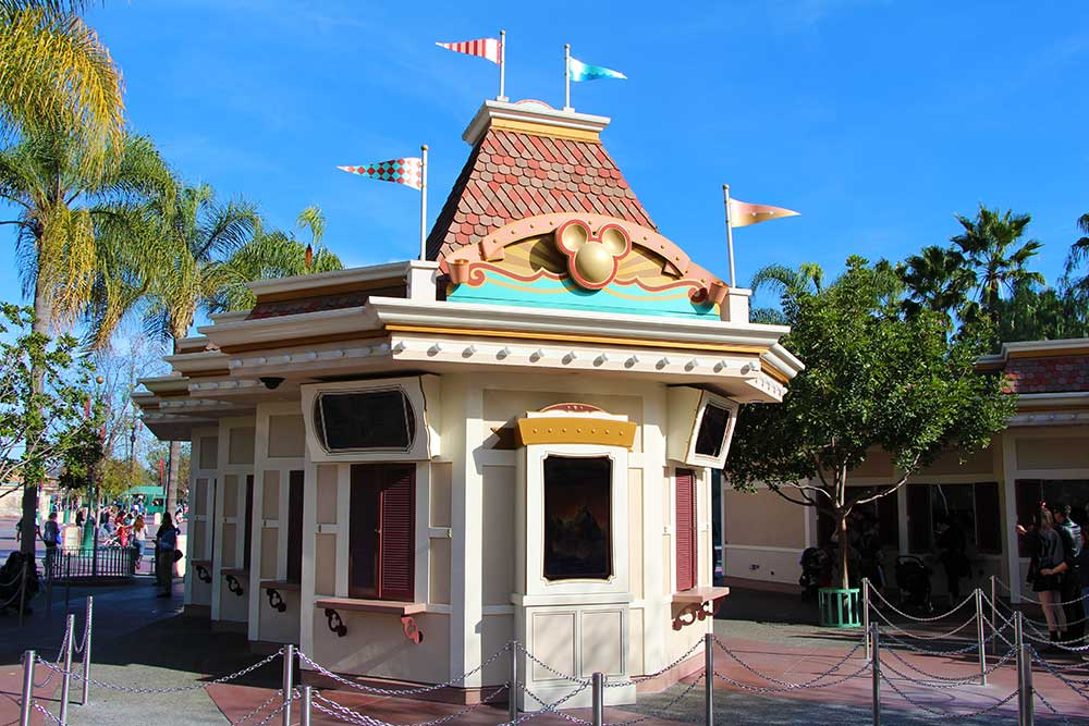 Disneyland Military Ticket Booth