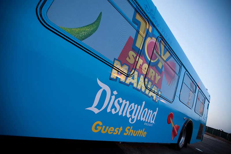 Disneyland Parking Toy Story Shuttle - (C) Disney