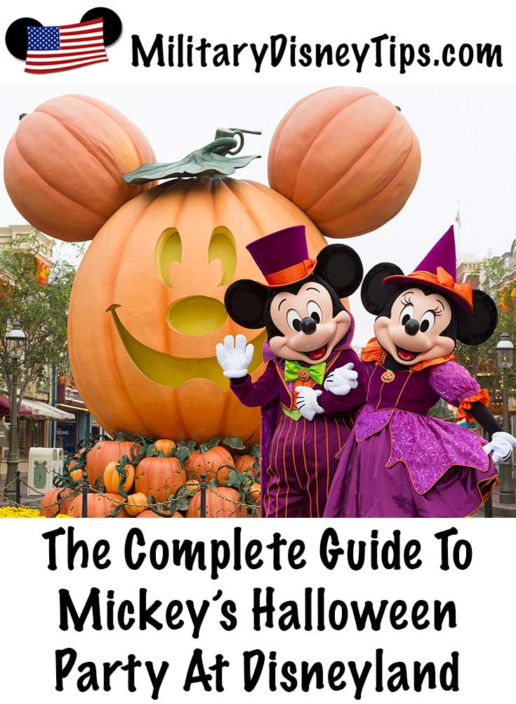 Complete Guide To Mickey's Halloween Party At Disneyland