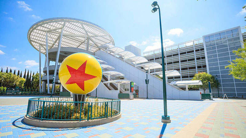 Pixar Pals Parking Structure at Disneyland Resort