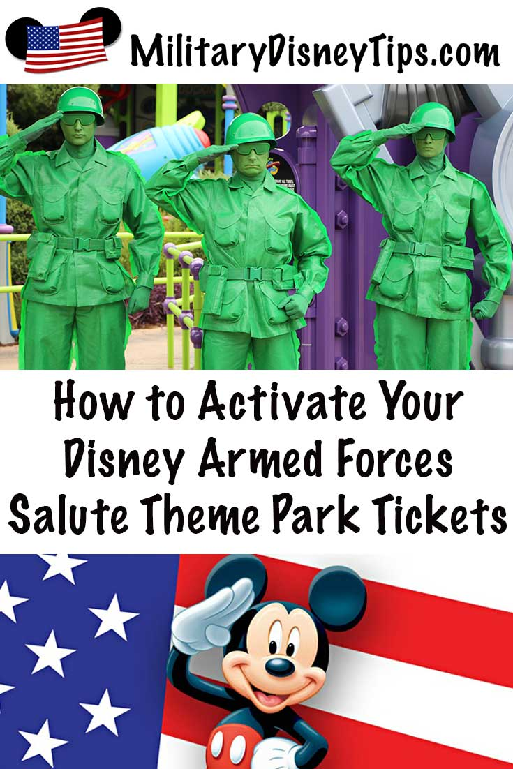 How to Activate Disney Armed Forces Salute Tickets