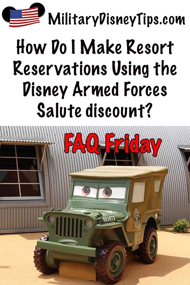 How to Make Disney Armed Forces Salute Room Reservations