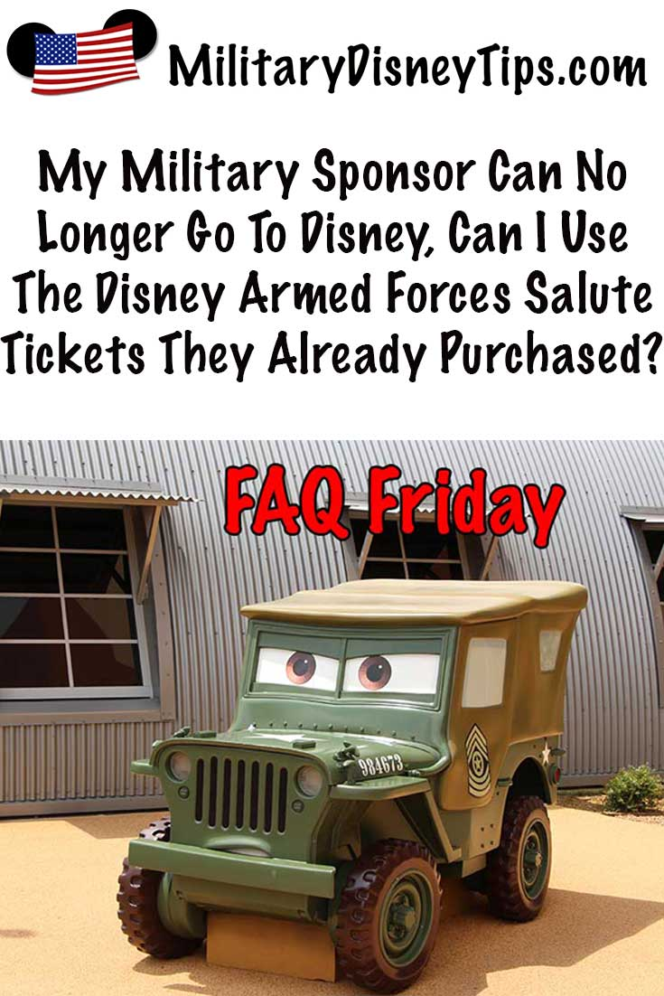 Military Sponsor Can't Go To Disney