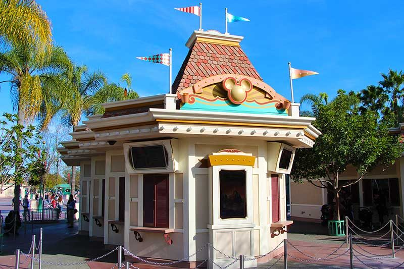 Disneyland Ticket Booth