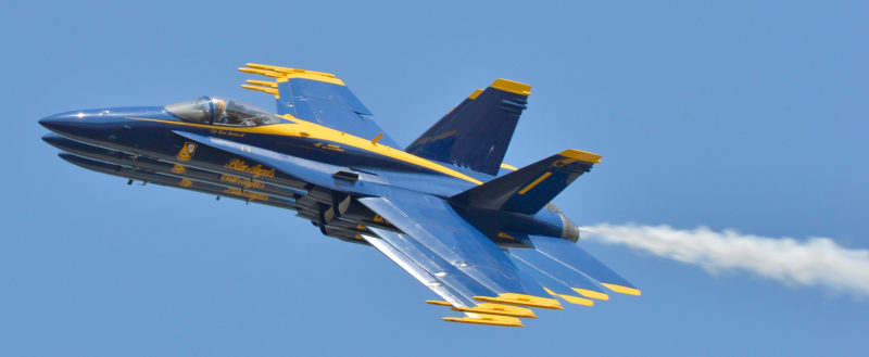 Navy Blue Angels are scheduled to fly over Walt Disney World's Epcot (C) US Navy