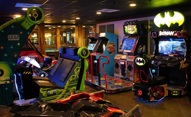Shades of Green Resort Evergreen's Sports Bar Review Arcade