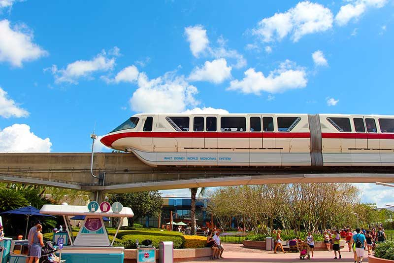 The Magic Kingdom Monorail at the Transportation and Ticket Center