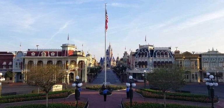Flag still flies over Walt Disney World!