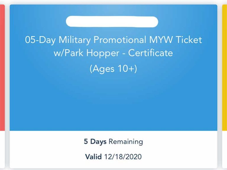 Disney Extending Expiration Dates on Disney Armed Forces Salute Tickets!