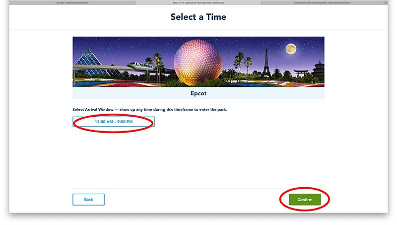 Using the Walt Disney World Park Reservation System