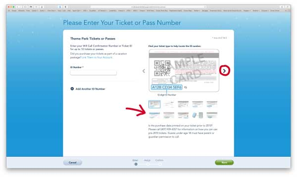Linking Disney Military Tickets and FastPass Plus Reservations