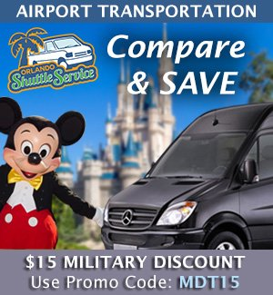 Orlando Shuttle Service Military Discounts