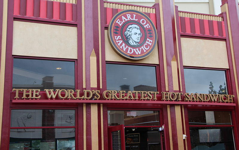 Earl of Sandwich Military Discount Disneyland