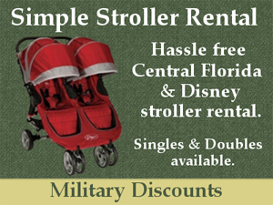 Disney World Military Discounts on Strollers