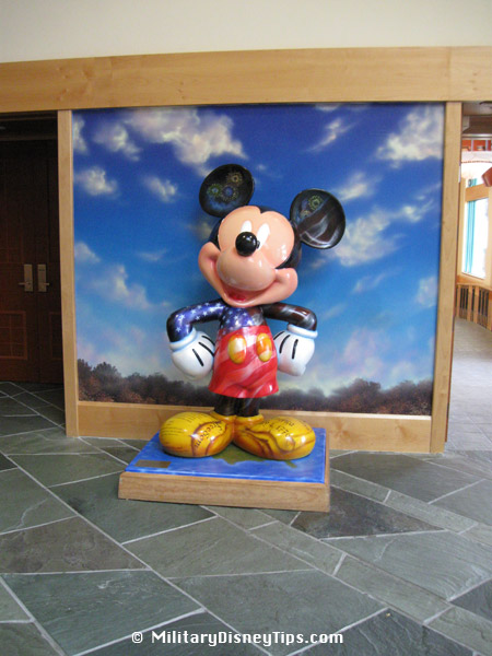 Mickey Mouse is in the Shades of Green Lobby
